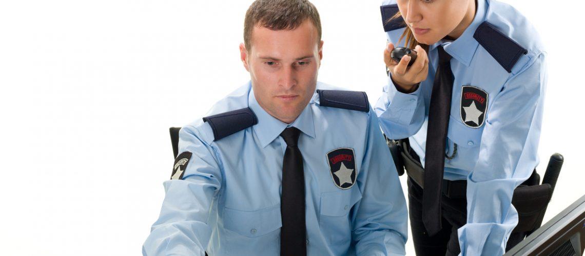 Woman and Man Security Guard